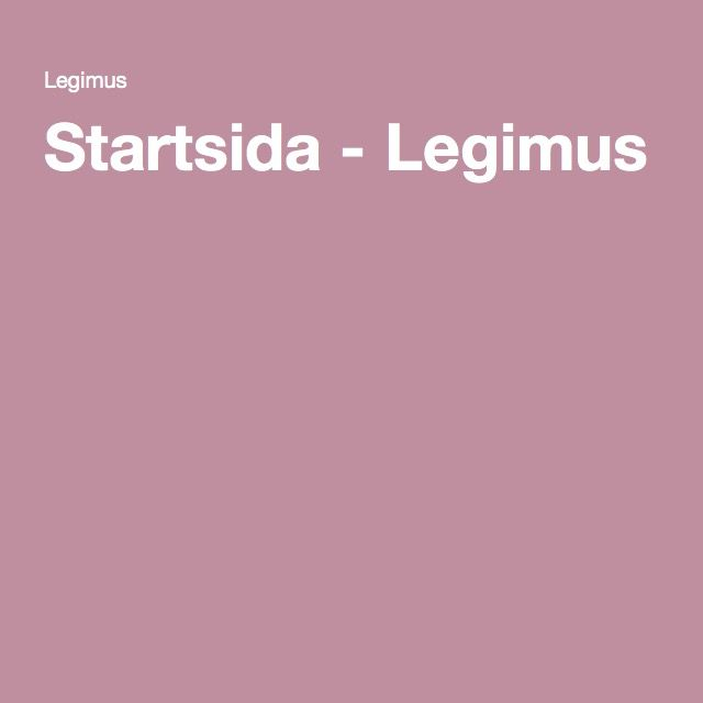 Startsida - Legimus