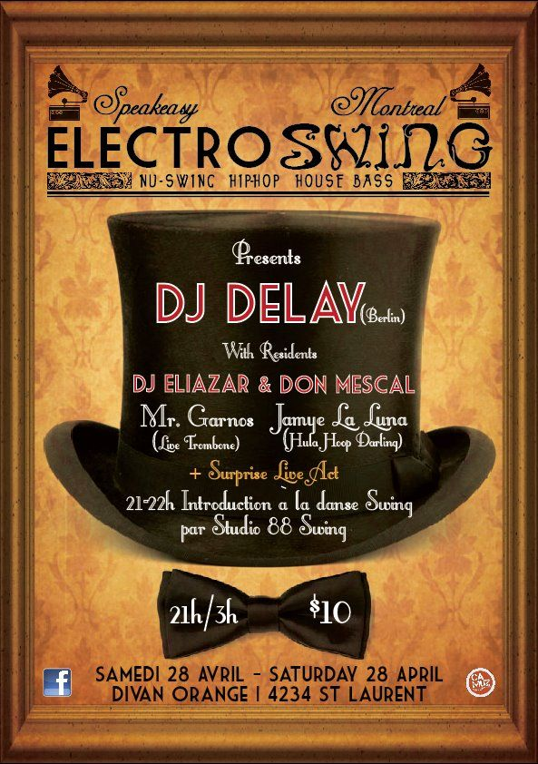 Speakeasy #8 Saturday 28 April 2012 @ Divan Orange