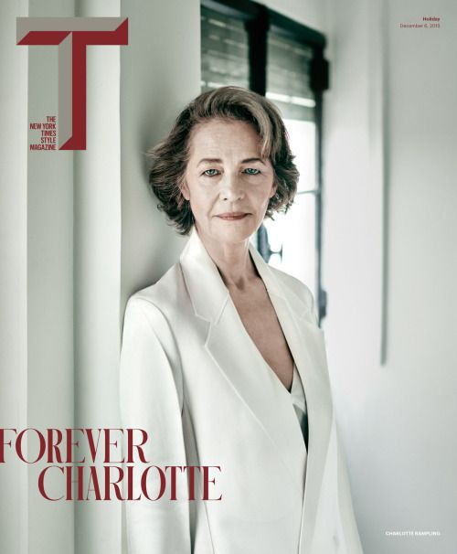 Charlotte Rampling, photographed by Paolo Roversi for The New York Times Style magazine, Holiday 2015