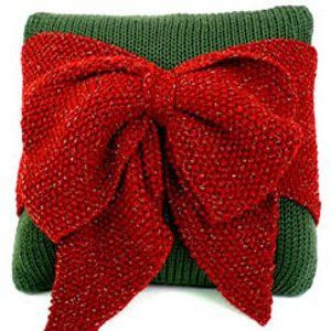 Bow Pillow & 46 other Christmas Knitting Patterns