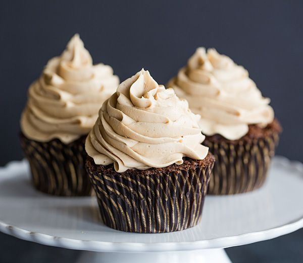 Mocha Cupcakes with Espresso Buttercream Frosting - An easy recipe and a perfect way to get your dessert and coffee fix all in one!   browneyedbaker.com
