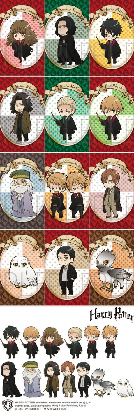 The Official Anime Versions of Harry Potter Characters Are Out!