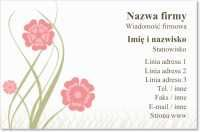 bloom kwiaciarnia Wizytówki standard