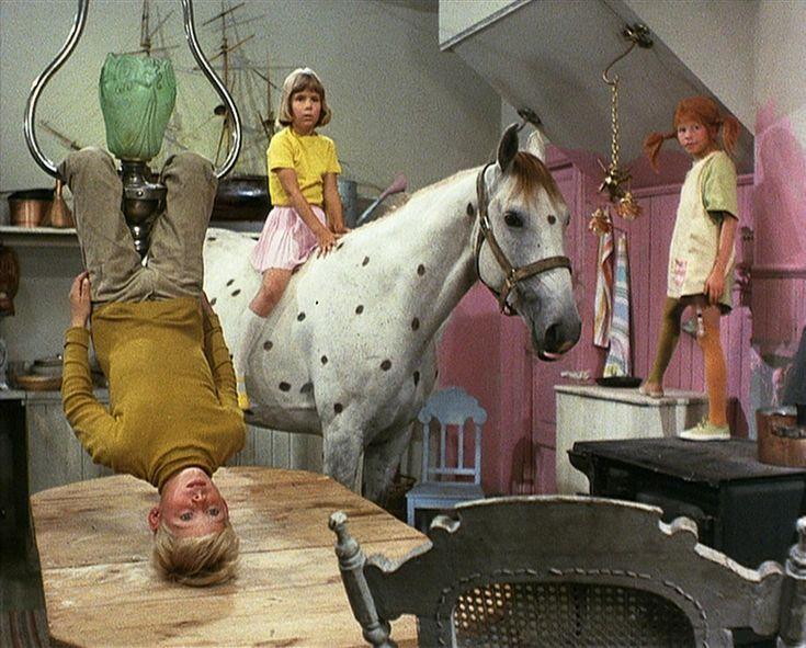 [pictures from Astrid Lingren's Pippi Långstrump series, 1969]