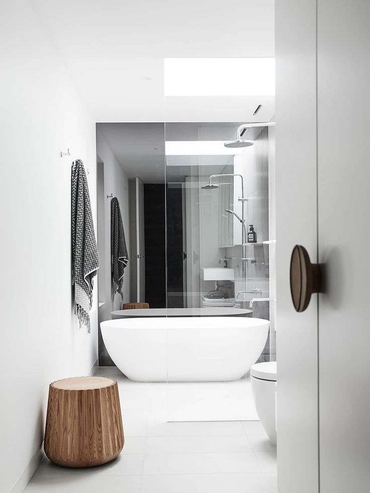 Bathroom | Spotted Gum Northcote House by Taylor Knights | est living