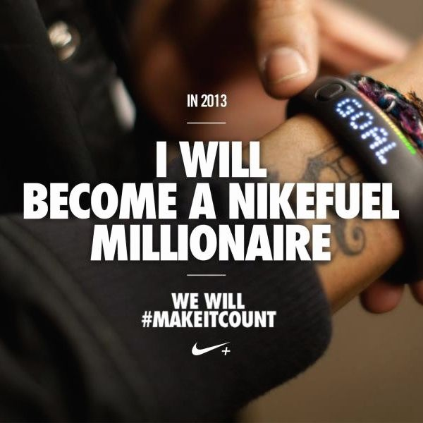 Making it count!!! Nike Fuel Band counts calories burned steps taken accumulates fuel when you reach a daily goal. Hell of a watch too.