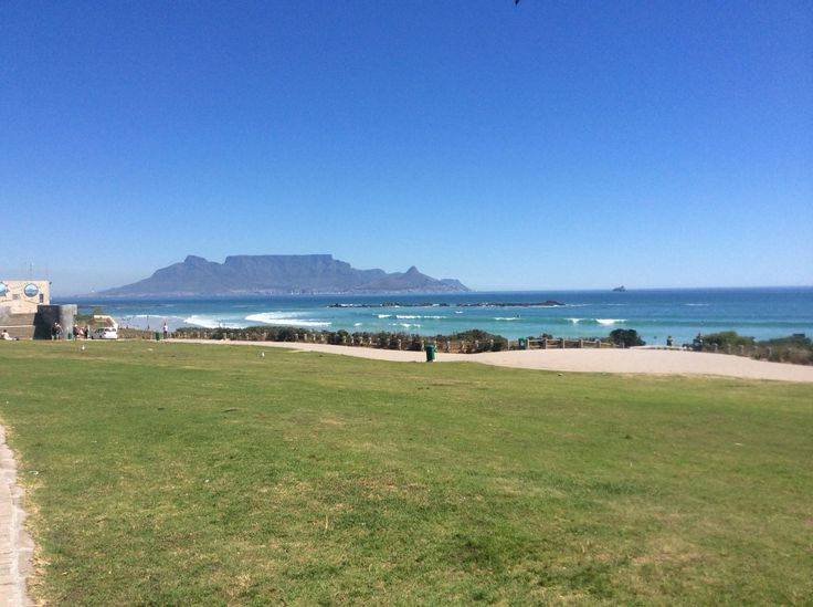 Bloubergstrand in iKapa, Western Cape