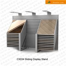 Cx034 Sliding Marble Granite Stone Display Rack for Exhibition