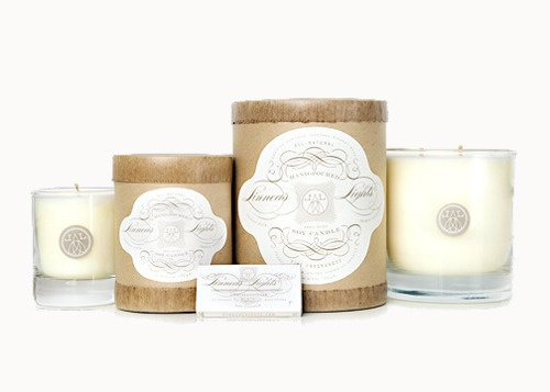 New at Nest: candles from Linnea's Lights! Check out their pretty packaging and they smell divine!