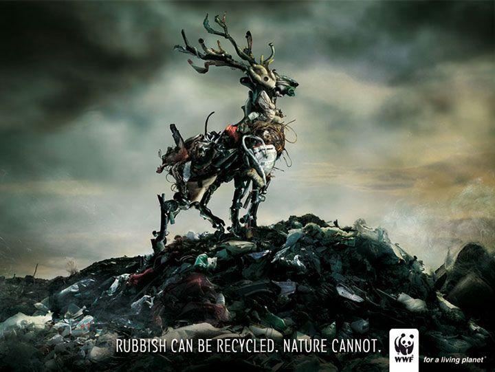 35 affiches créatives et poignantes de la WWF qui vous plongeront au coeur de leur combat pour la planète