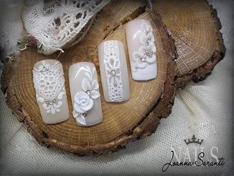 🔸Χειροποίητα ανάγλυφα σχέδια με τζέλ 🔸 #nailart #3dlace #nails #nails2inspire #instanails #ioannasaranti