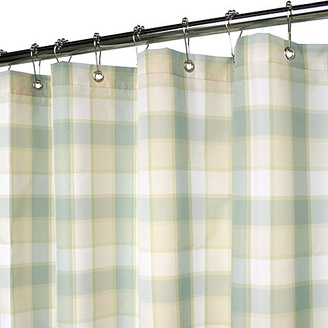Park B. Smith® Baja Yarn Dyed Fresco X Watershed® Small Check Shower Curtain