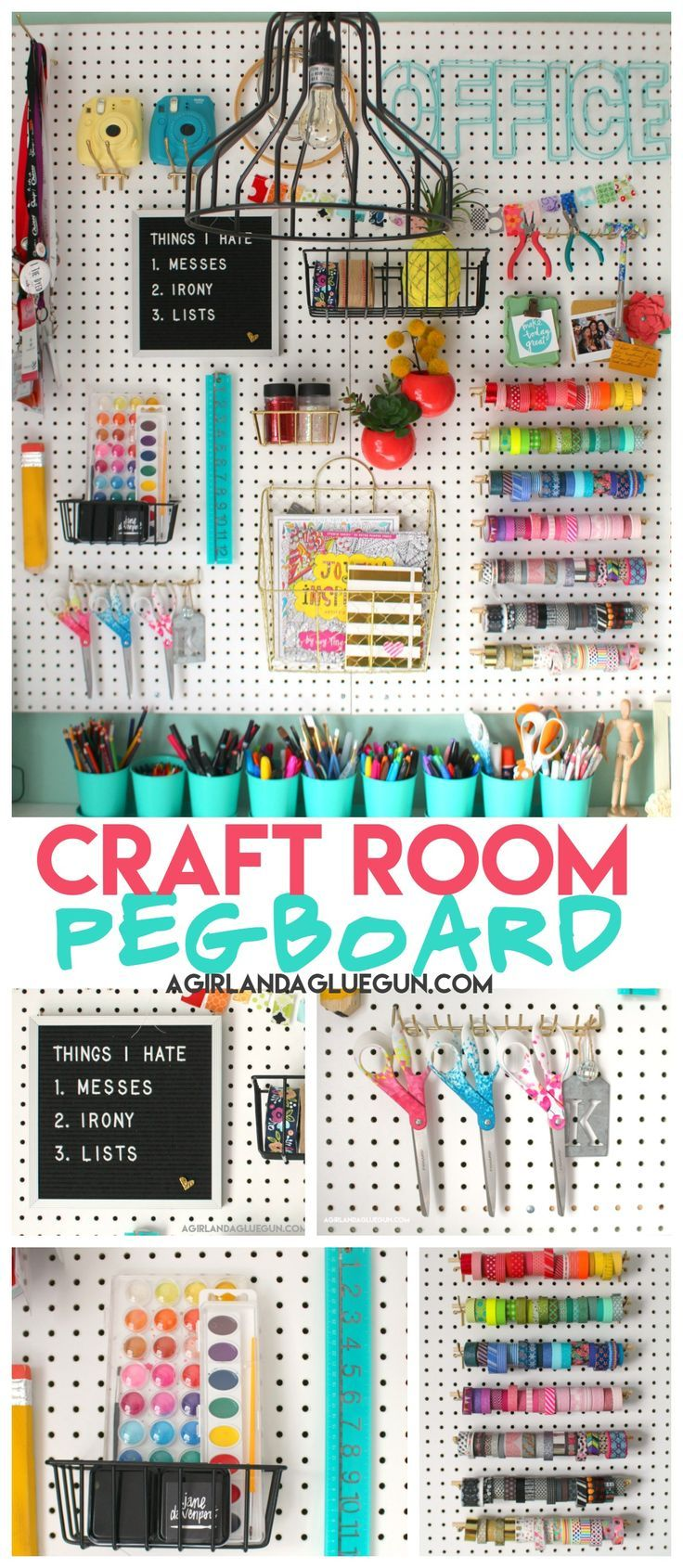Organizing my craft room - A girl and a glue gun