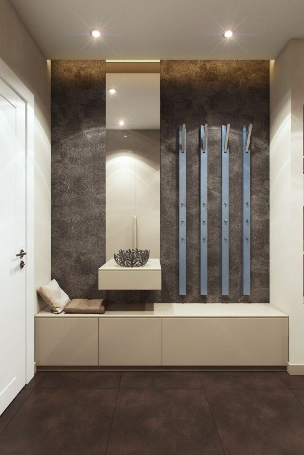 """Contemporary """"drop zone"""" or """"mudroom"""" for small spaces"""