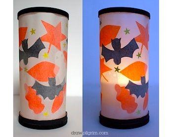 Draw Pilgrim easy halloween lantern