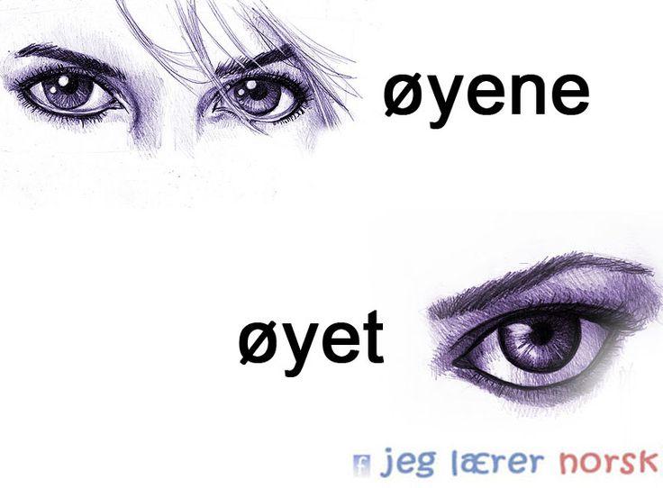 øyene/øyet
