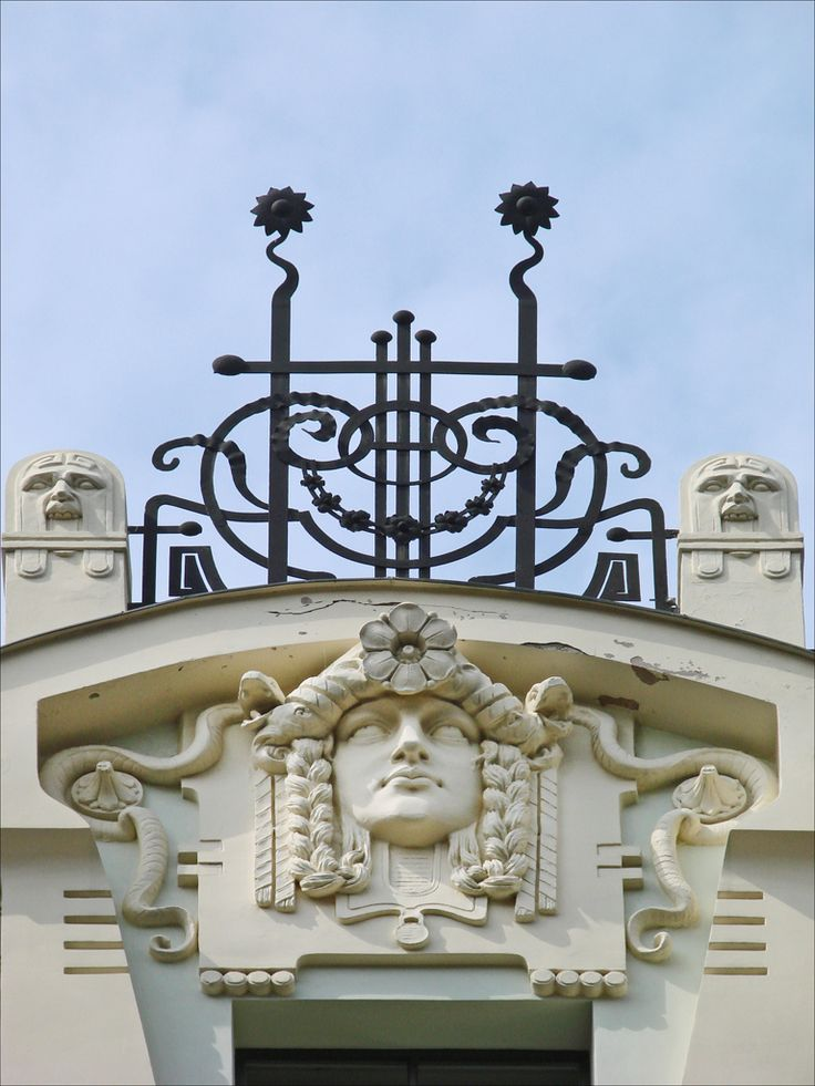 """According to UNESCO, """"it is generally recognized that Riga has the finest collection of art nouveau buildings in Europe."""" Walking around the streets of Riga gives one a pleasurable taste of what living in an art nouveau world would have been like. Photo by Jean-Pierre Dalbera"""