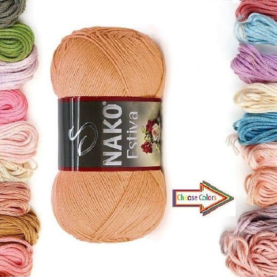 Check out this item in my Etsy shop https://www.etsy.com/listing/518417648/nako-estiva-crochet-yarn-knitting-yarn