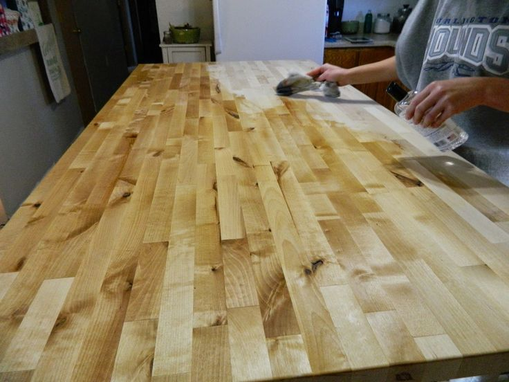 and then oiling the butcher block again kitchen island kate madison furniture