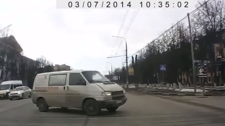 Hold your line! Here's whatyou get when you combine Russian dashcam videos with spotter audio from the classic computer game 'NASCAR Racing 2003 Season.'