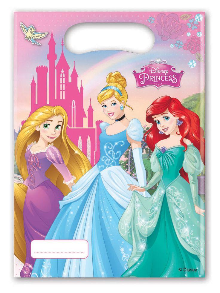 6 sacchetti regalo Principesse Disney™ su VegaooParty, negozio di articoli per feste. Scopri il maggior catalogo di addobbi e decorazioni per feste del web,  sempre al miglior prezzo!