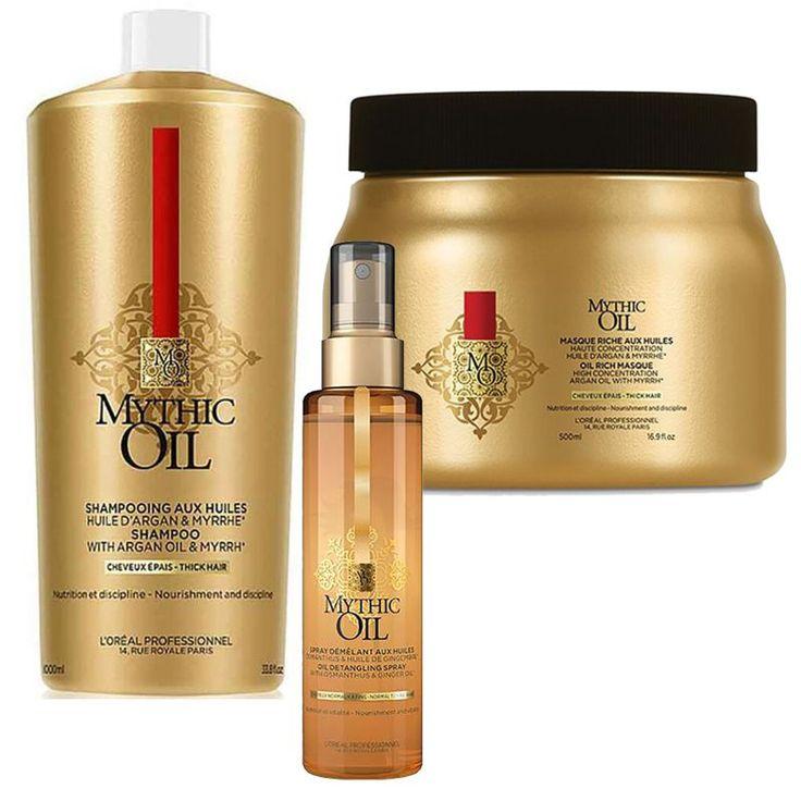-19% Pachet Par Gros L'Oreal Professionnel Mythic Oil - Sampon, Masca si Spray Descurcare