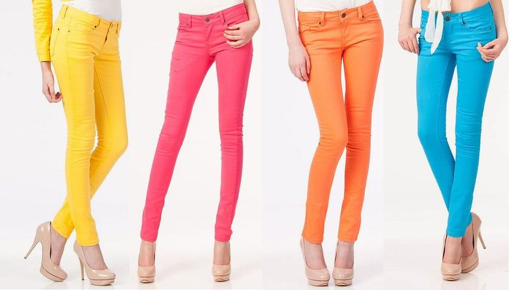 New Womens Spring Summer Blinq UK Branded Sexy Fitted Skinny Straight Neon Jeans