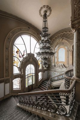 Abandoned casino in Constanta, Romania, on the Black Sea. It's been empty since the Communist era (built in 1905).                                                                                                                                                      More