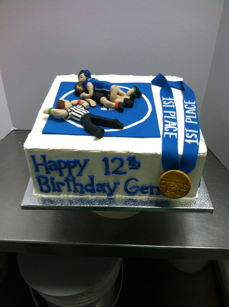 Wrestling cake  Coolest birthday cake I ever seen . #luckytreats #wrestling http://CertifiedCatchWrestler.com