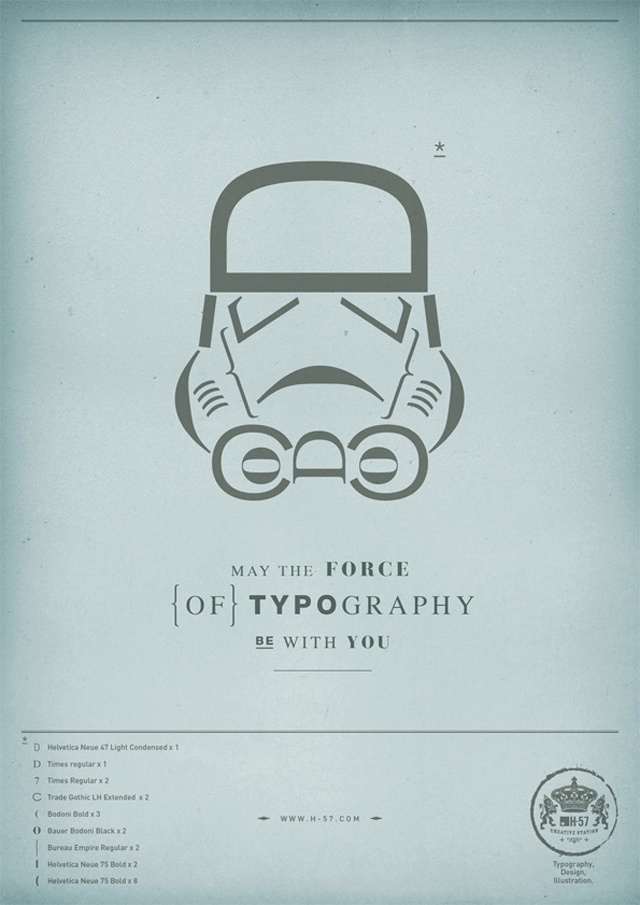 Star Wars typographic poster