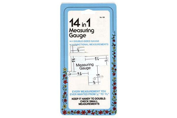 """Collins sewing gauges are the perfect tools for easily and quickly measuring anything, even in small or tight spaces. 14 in 1 Measuring- A double-sided gauge with 14 functional measurements; handy for checking small measurements. Every measurement you ever wanted from 1/8"""" to 1 3/4. $2.39CAD #CraftDeVille #Collins #Quilting"""