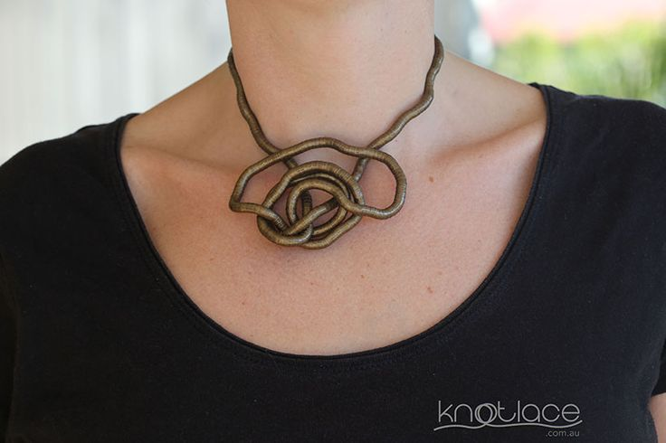 Miss Knotlace bendy necklace or accessory – Antique or Rose Gold. - http://www.knotlace.com.au/ #style #fashion #accessory #jewellery #goldaccessory #antiquegold #rosegold