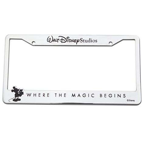 Walt Disney Studios Mickey Mouse License Plate Frame
