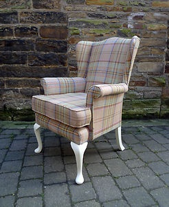 Vintage Wing Back Armchair - Parker Knoll - Contemporary Wool + Farrow and Ball | eBay
