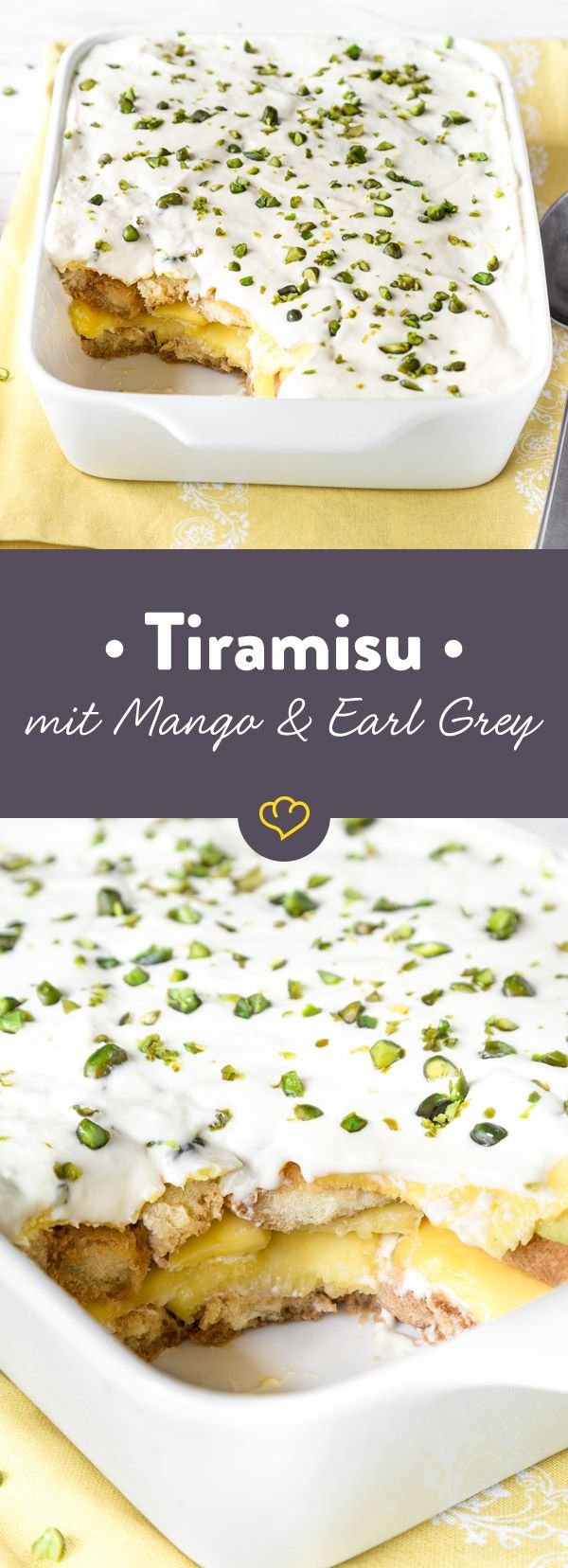 Diese Tiramisu mit Earl Grey und Mango bietet eine köstliche Alternative zum Klassiker mit Espresso und schmeckt dabei noch herrlich fruchtig!