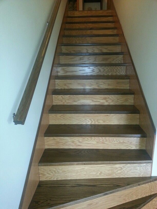 8 Best Two Tone Stained Staircases Columbus Ohio Images On