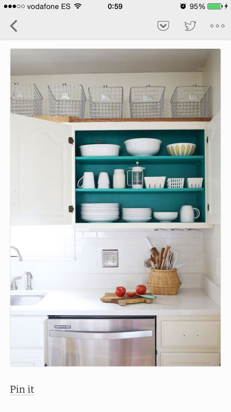 22 best open shelves above stove? images on Pinterest | Home ideas ...