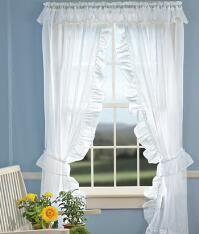 Shop Charming Ruffled Curtains Priscilla And Our Narrow Ruffle Create A Sweet