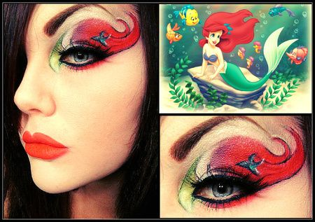 "Fun Makeup!   ""Ariel"" Little Mermaid part 1..... Inspired by my daughters obsession with the movie :) http://www.makeupbee.com/look_Ariel-Little-Mermaid-part-1_37822"