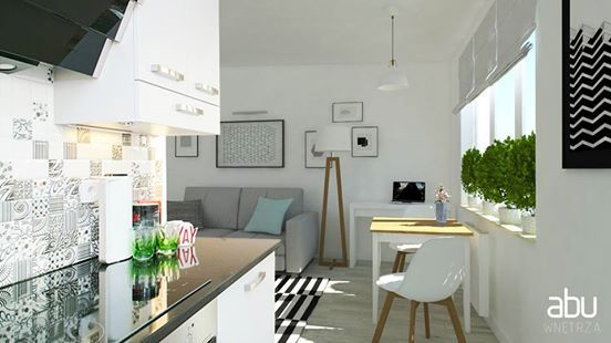 small apartment in Warsaw, scandinavian design