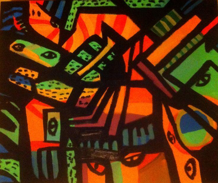 """""""Shamán"""" Acrylic on canvas."""
