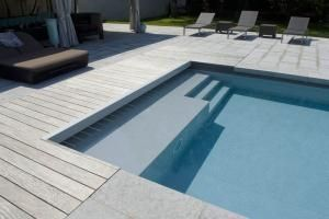 17 best images about piscine on pinterest france - Escalier d angle piscine beton ...