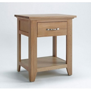 Cambridge Oak Lamp Table CO6115  www.easyfurn.co.uk