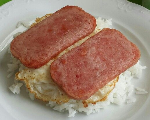 Rice, eggs and spam.