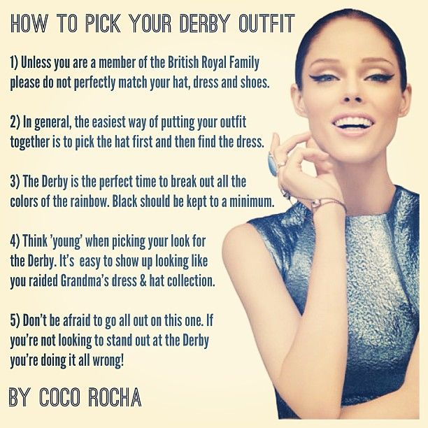 How to pick your Kentucky Derby outfit.