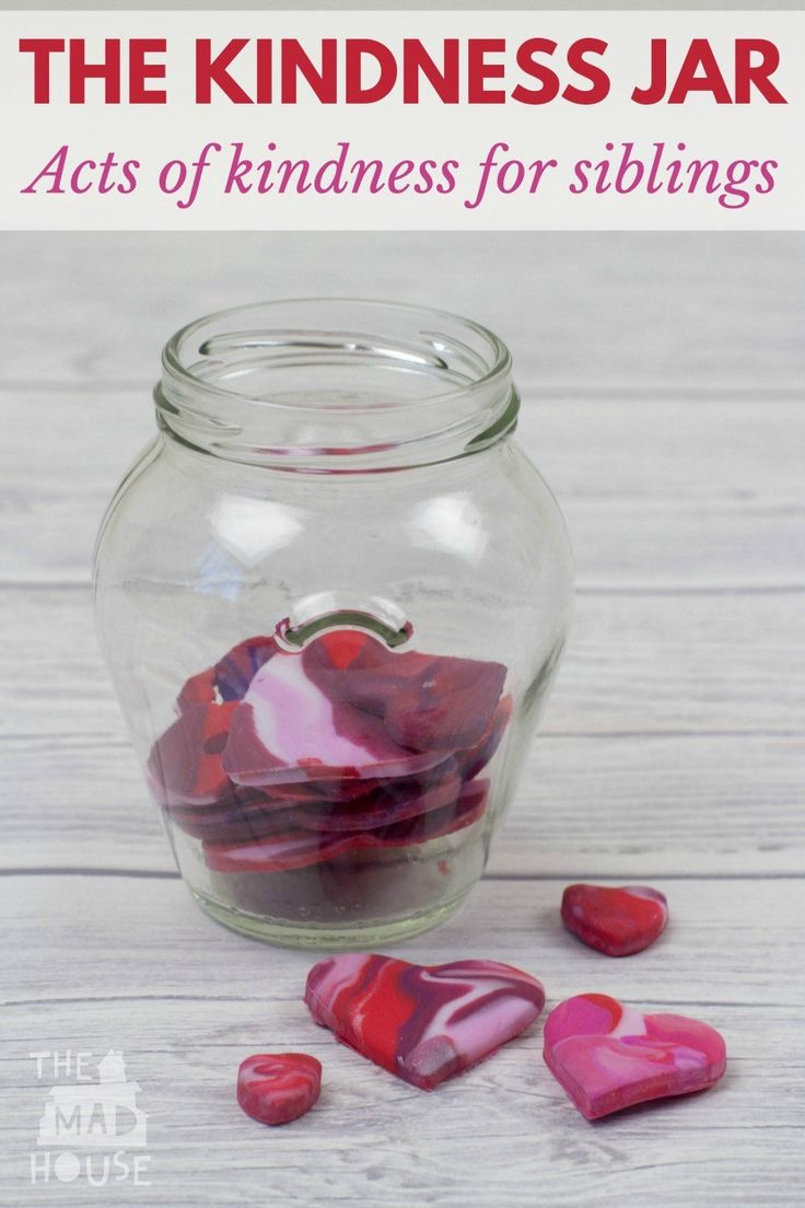 Acts of Kindness Jar – Acts of kindness for siblings