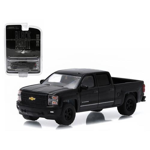 2015 Chevrolet Silverado 1500 Pickup Truck Black Bandit 1/64 Diecast Model by Greenlight