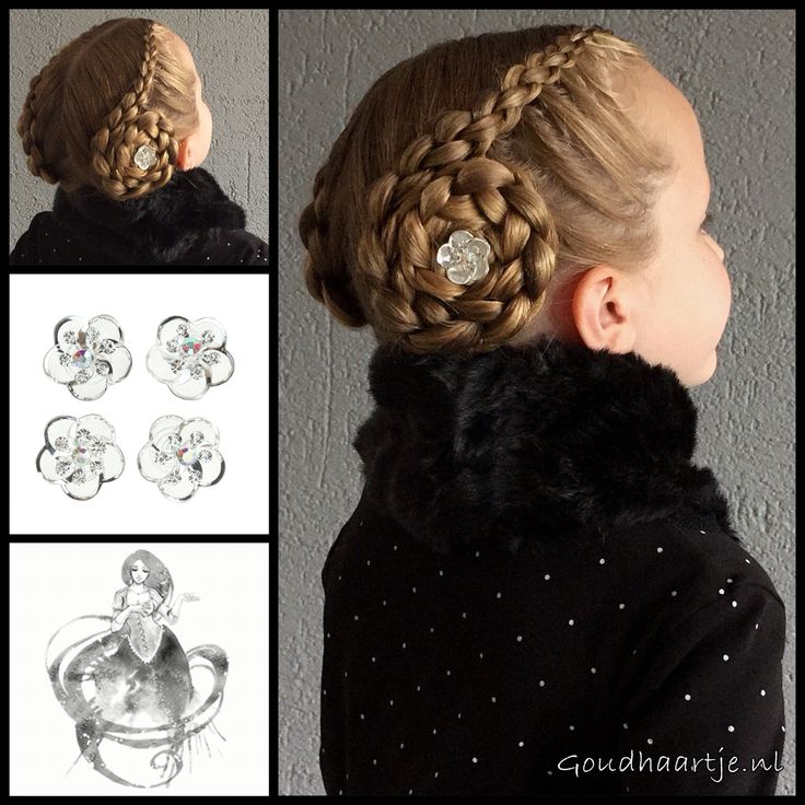 Updo with two 3D round braids