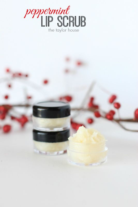Make your own DIY Peppermint Lip Scrub with only four ingredients!