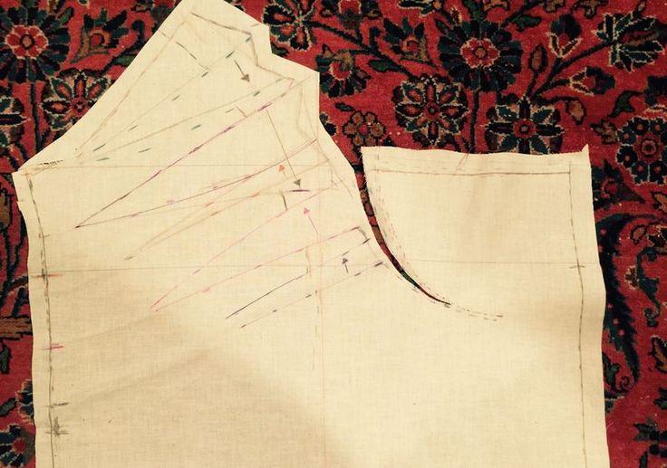 Draped skirt flat pattern piece